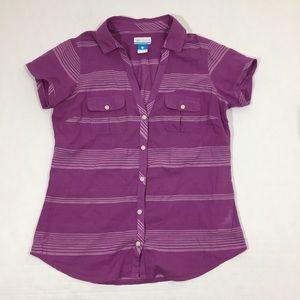 Women's Columbia PFG Fishing Button Up Shirt S